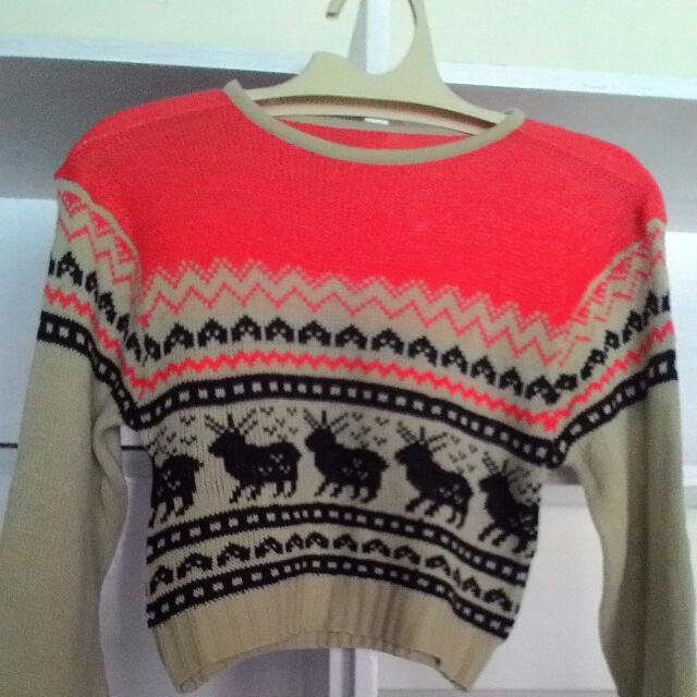 Sweater Rajut Crop