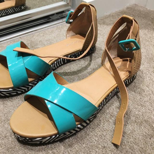 Topshop Printed Sandals