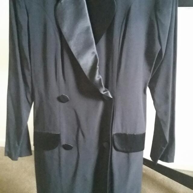 Tuxedo black skort