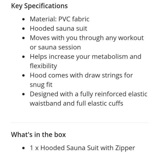 Unisex Hooded Sauna with Zipper