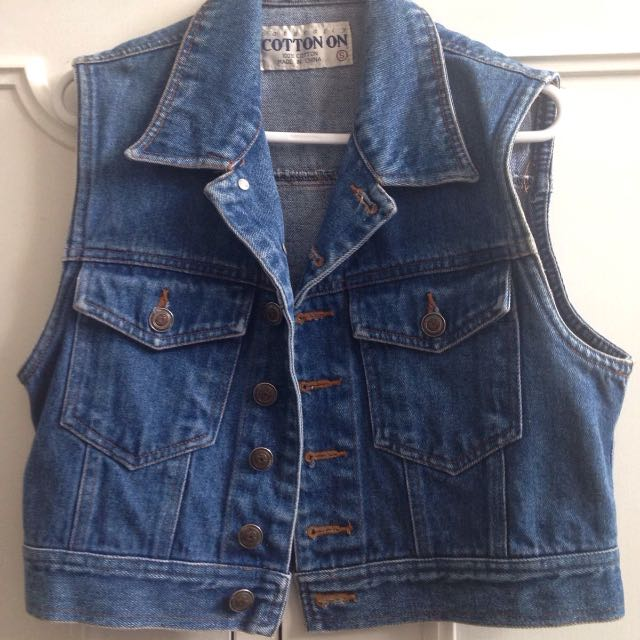 Vintage 'Naturally COTTON ON' Denim Vest