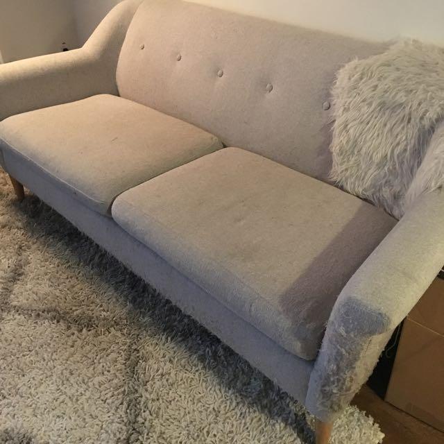 West Elm Fin Sofa (NEEDS REPAIRS)