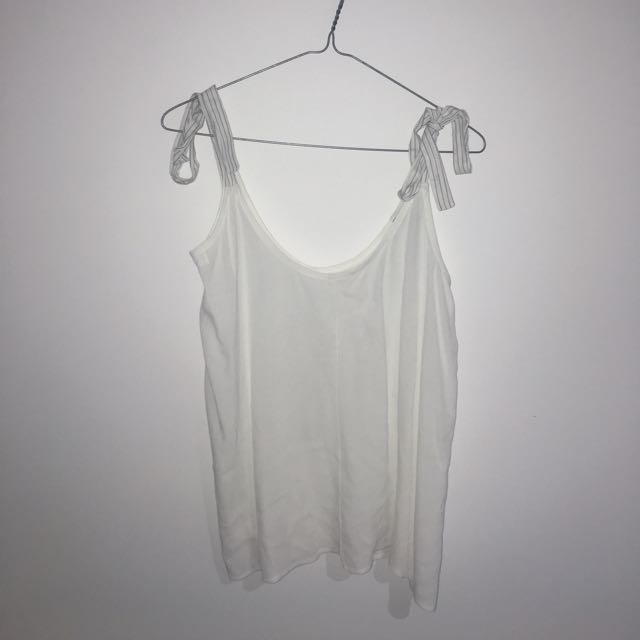 White Tie Up Cami top