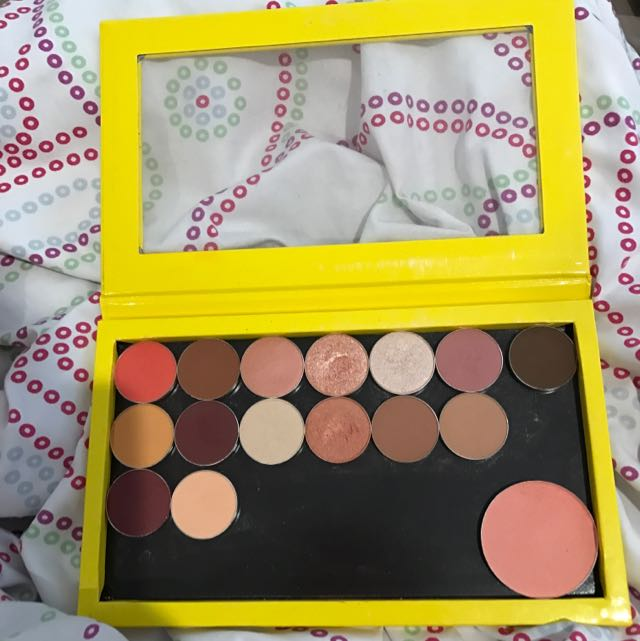 Z palette full with Makeup Geek shadows + blush