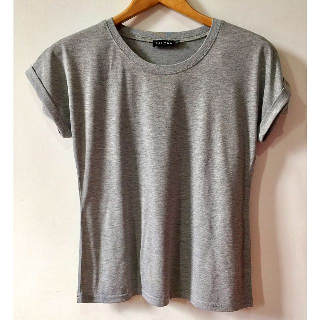 ZALORA Basic Tee (GRAY)