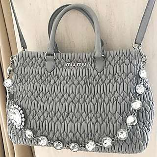 ⚡️PRICE DOWN ⚡️MIU MIU TOTE RN0958 💯% AUTHENTIC
