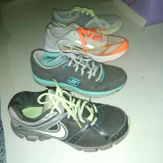 Authentic nike,adidas,sketchers rubber shoes