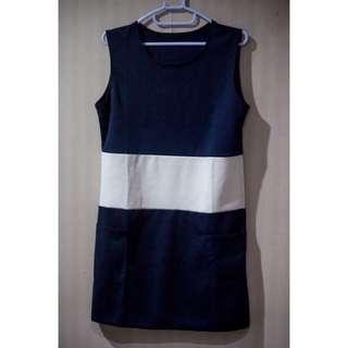 Navy-white Dress