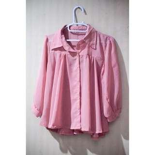 Chiffon Pink Shirt