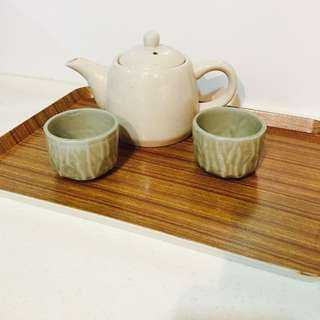 Tray And Pot And Cups