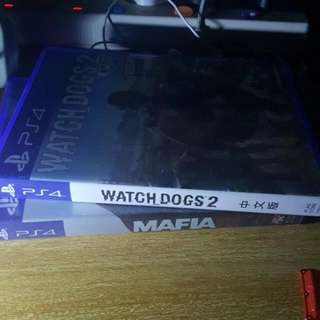 PS4 watch dog 2 mafia 3
