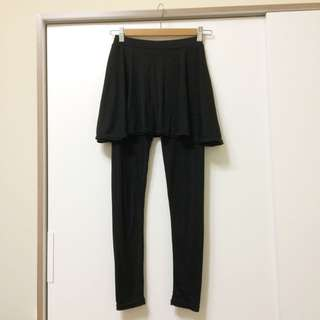 假兩件裙子內搭褲 黑