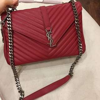 27 ING Hong Kong Import Hand Bag Tas Fashion Wanita . Mirror Quality YSL MERAH
