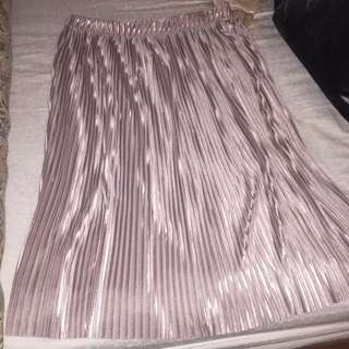 Zara Pleated Pink Skirt