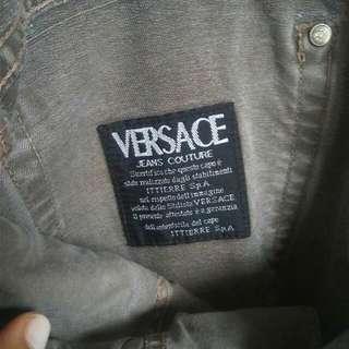 Men's Genuine Versace Denim Grey Baggy Jeans Size M