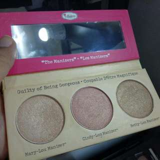 reprice the balm - the manizer sisters highlighter, blush, bronzer #barteryuk