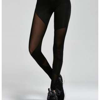 Black Mesh Leggings