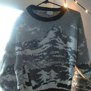 90s Vintage Ms. Sheryl winter patterned sweater (women's medium)