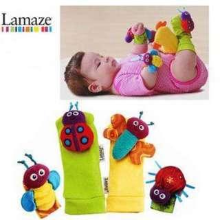 Lamaze Wrist Rattles & Foot Finder Set - Colourful