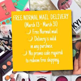 🌙FREE NORMAL MAIL  DELIVERY (March 13 - March 31)