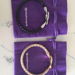 2 Gold mark Bracelets