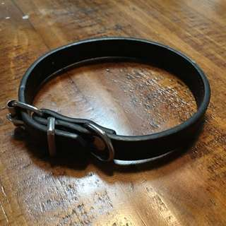 Plain Black Extra Small Dog Collar