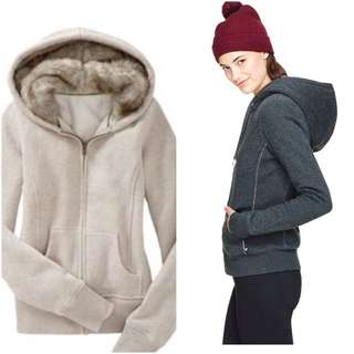 New Aritzia Style Fur Lined Hoodie Roots