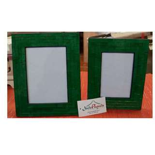 Green Mosaic Picture Frame Set  ( 0f 2)
