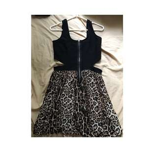 Valley Girl Leopard Printed Dress