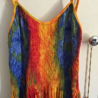 Vintage Tie Dye Maxi Deess