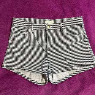 Mid Rise Striped Shorts From H&M