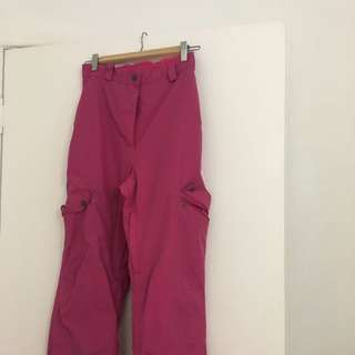 Women's Pink Crane Extreme Snow Pants