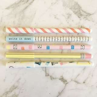 "Kikki.k 5PK ""Letters Are Better"" Pens"