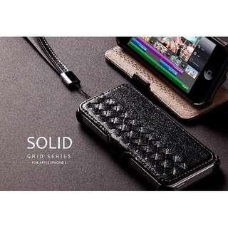 全新bv風格編制款iPhone 5/5s I5 I5s Se皮質四角保護手機殼進口材質手感極佳