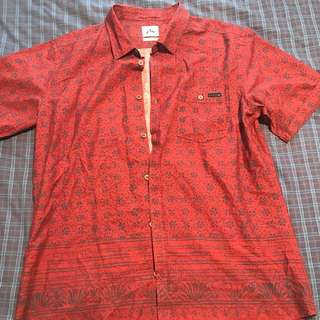 Rusty Short Sleeve Button Up Shirt