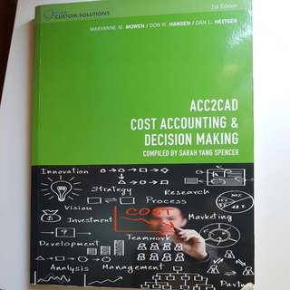 ACC2CAD Cost Accounting & Decision Making