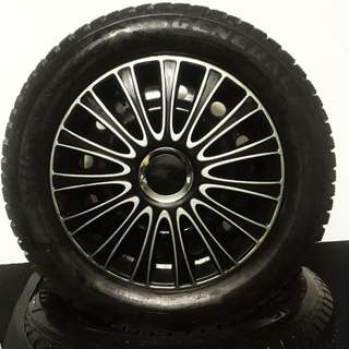 Winter Tire With Rim And Rim Cover (225 55 R16)