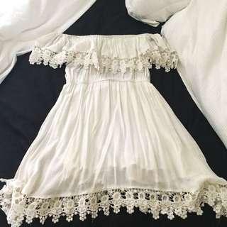 Off-Shoulder Boho Dress