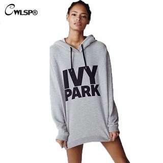 Beyonce IVY PARK Topshop GRAY Sweatshirt Hoodie S