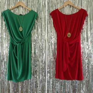 Arithalia Dress Green And Red