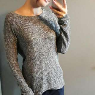 Grey Thin Knitted Top