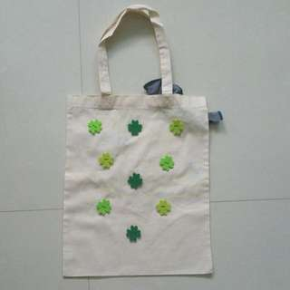 *BRAND NEW* HANDMADE Clover Denim Tote Bag