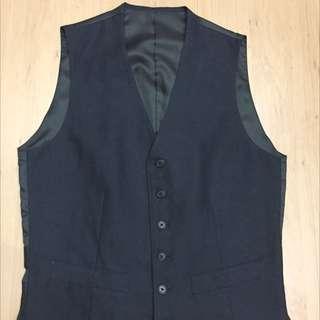 Uniqlo Vest (Rompi) Navy blue Size M