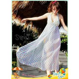 OUT OF STOCK - Sexy Polka Dots Cover Up Beach Dress