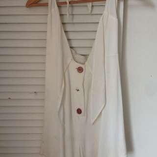 Tuchuzy White Little Halter Play suit