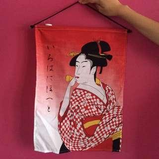Hiasan Dinding Gambar Geisha