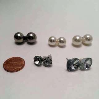 5 Pairs Stud Earrings