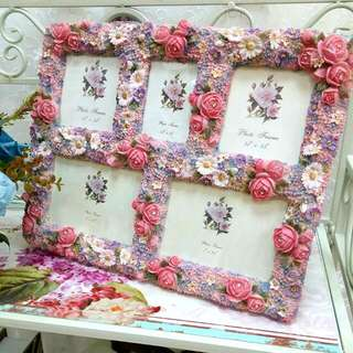 Romantic Vintage Delicate Rose Multi Photo Frame (A11)