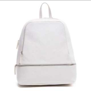 White Zip Backpack