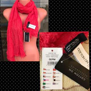Auth Cotton On Poetic Crinkle Scarf -BNWT
